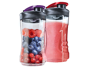 2 Mini Mixer Extra-Flaschen