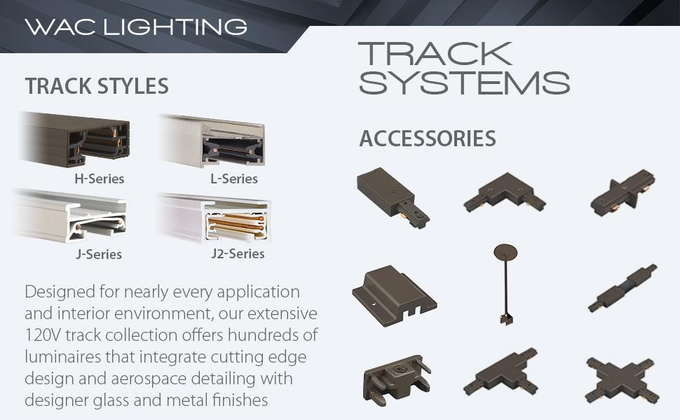 WAC Lighting, Track Lighting, Track, 120V, LED, Interior lighting