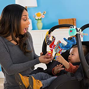 Mother and child playing with Fold and Go Activity Toy