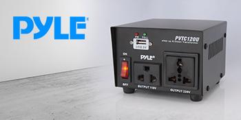 100 Watt PVTC120U Pyle voltage converter Step Up and Down AC 110//220 Volts Size