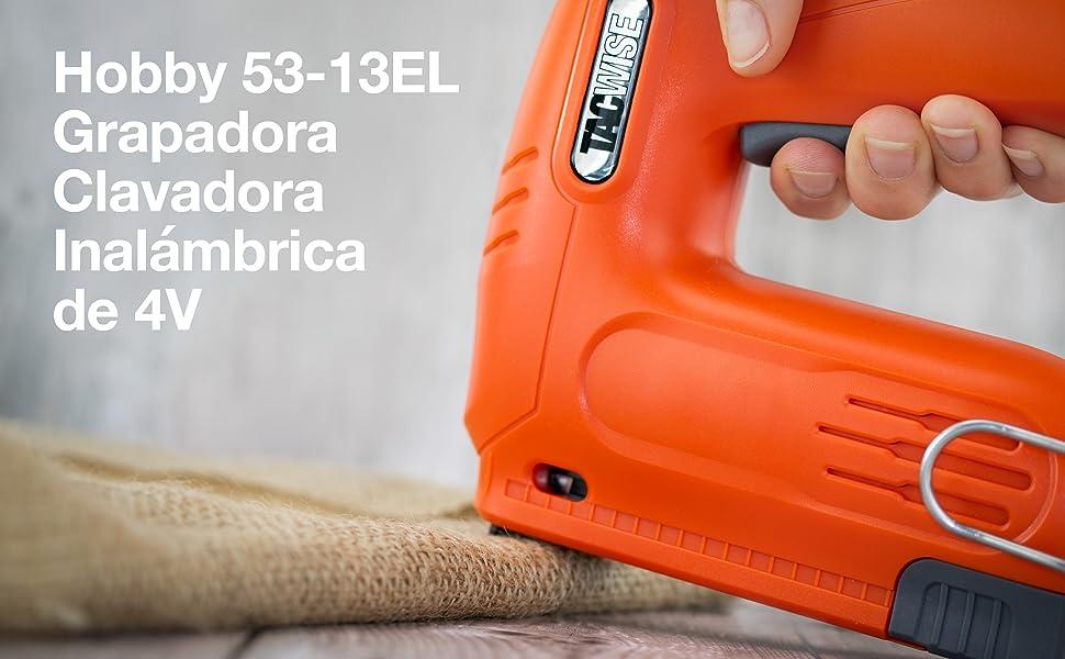 Tacwise 1565 Clavadora Grapadora a Bater/ía 12V