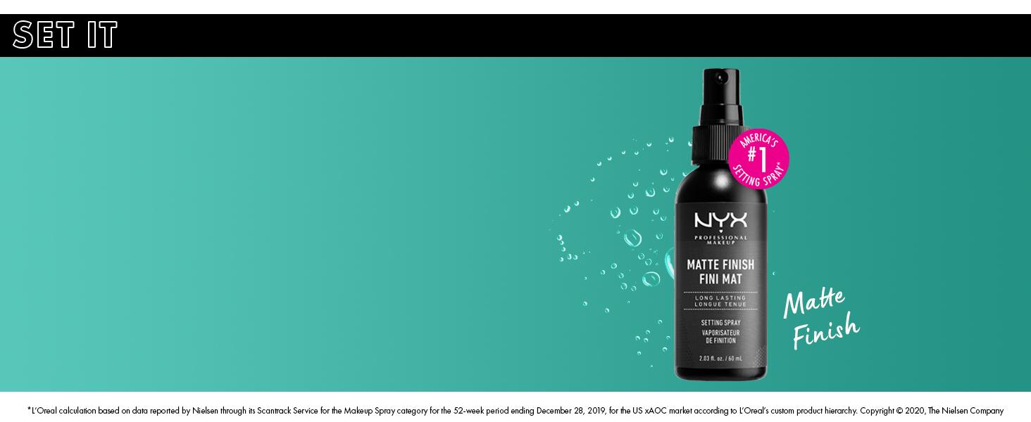 nyx matte setting spray matte finish face