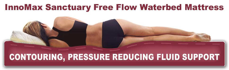 Sanctuary Free Flow Waterbed Mattress Contours To The Body