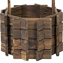 Amazon.com : Best Choice Products Wooden Wishing Well Bucket Flower ...