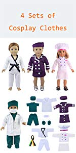 cosplay clothes for American girl doll
