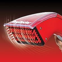 scrub, quick easy, motorized brush, handheld, carpet washer, bristles, squeeze trigger, scrubbing