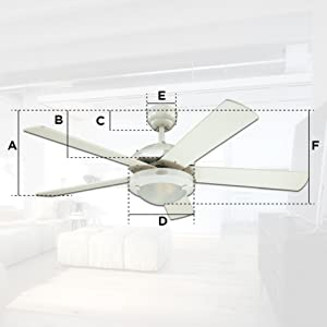 Westinghouse comet abanico de techo negro mate amazon the comet ceiling fan has a dual mount installation system you can install the ceiling fan without the extension rod provided to reduce the distance aloadofball Gallery