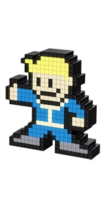 PDP Pixel Pals Fallout 4 Vault Boy Collectible Lighted Figure
