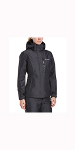 Columbia Carson Pass II, Chaqueta impermeable, Mujer, Gris ...