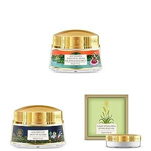 Sanjeevani Beauty Elixir, Soundarya Radiance Cream, Hydrating Eye Gel, Glowing Skin, Skincare Regime