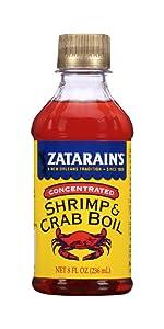 Zatarain's New Orleans Style Liquid Crab Boil, 8 oz (Pack of 6)