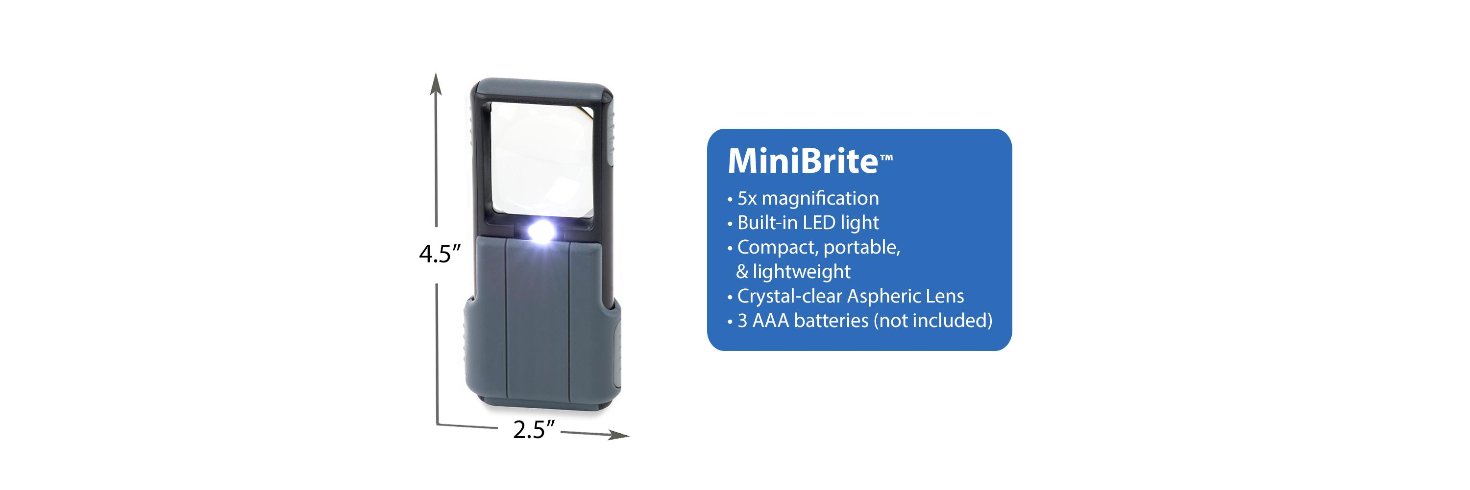 carson 5x minibrite led lighted slide out aspheric