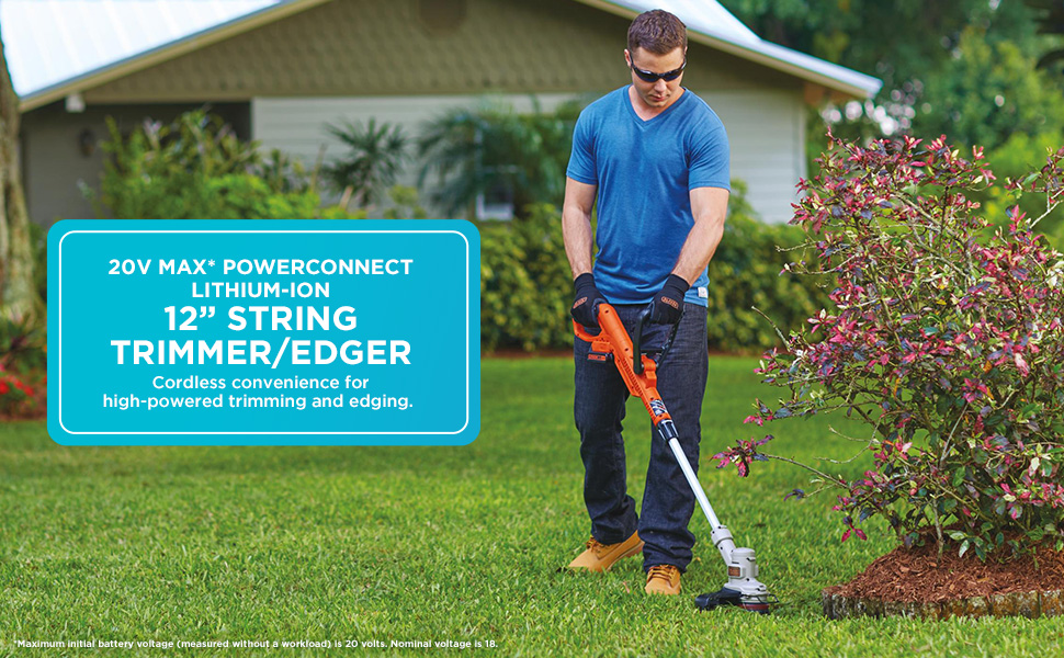 BLACK+DECKER 20V MAX 12-Inch Cordless String Trimmer