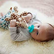 soothie snuggle, avent snuggle, avent, soothie, snuggle, paci, pacifier with plush toy, pacifier