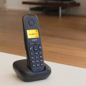 Gigaset A170 - Teléfono Inalámbrico, Pantalla Iluminada, Agenda de 50 Contactos, Volumen Ajustable, Color Blanco: Amazon.es: Electrónica