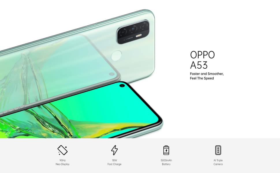 OPPO A53, OPPO Smart Phone, Smartphone, A Series, OPPO Mobile