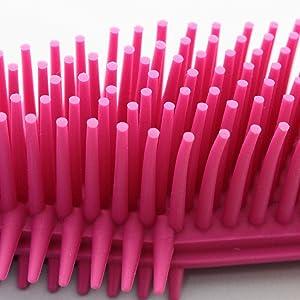 掃除 ブラシ らくらくおそう ホコリ取り 髪の毛 ペットの毛 除去 ピンク