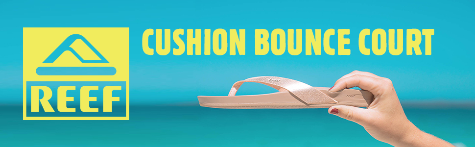 Reef Cushion Bounce Court Champagne Flip Flop Sandals Womens UK Size 7