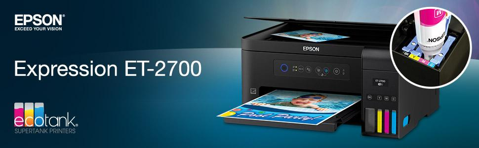 amazon com epson expression et 2700 ecotank wireless color all in