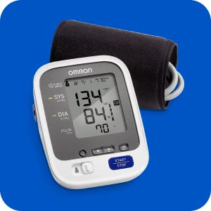 Omron 7 Series Upper Arm Blood Pressure Monitor; 2-User, 120-Reading Memory, Wide-Range Comfit Cuff, BP Indicator LEDs by Omron
