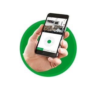 Movimentação manual da câmera pelo aplicativo com a iC7 Intelbras