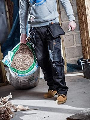 SCRUFFS Trade 3d Work Trousers Twinpack GRAPHITE WITH FREE KNEEPADS