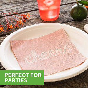 Coordinate our paper napkins with a variety of styles to create the perfect table setting.
