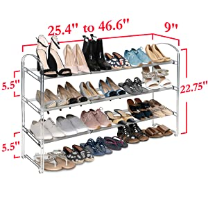 sevilleclassics 2 3 tier shelf steel mesh metal iron frame shelf storage rack organizer shoe slat