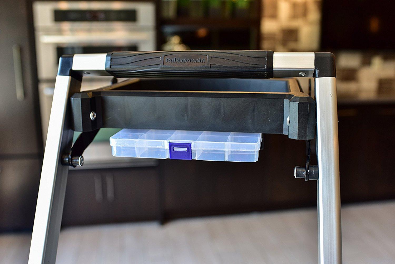 Rubbermaid Rma 3t 3 Step Lightweight Aluminum Step Stool