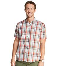 Explorer Short Sleeve Fishing Shirt Plaid Button Pocket