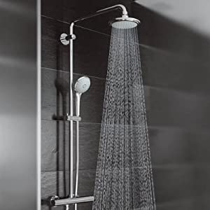 grohe sistema doccia con miscelatore termostatico euphoria system cromo 27420001 vecchio. Black Bedroom Furniture Sets. Home Design Ideas