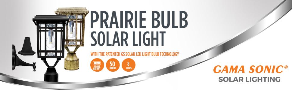 Prairie Bulb Solar Light