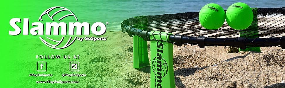 gosports slammo roundnet spike slam ball volleyball agility crosstraining family boys beach games