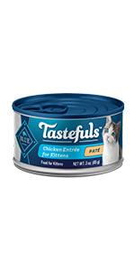 Cat Food, Wet Cat Food, Canned Cat Food, Pate, Flaked, Kitten Food, Blue Buffalo, Blue Tastefuls