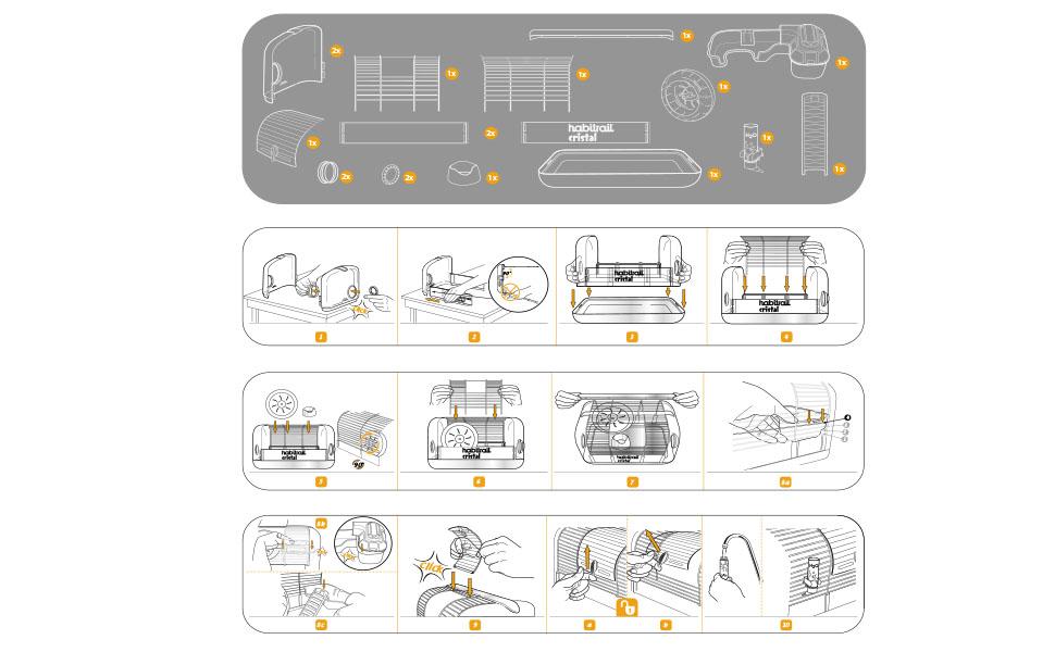 HABITRAIL Jaula de Cristal para Hámster: Amazon.es: Productos para ...
