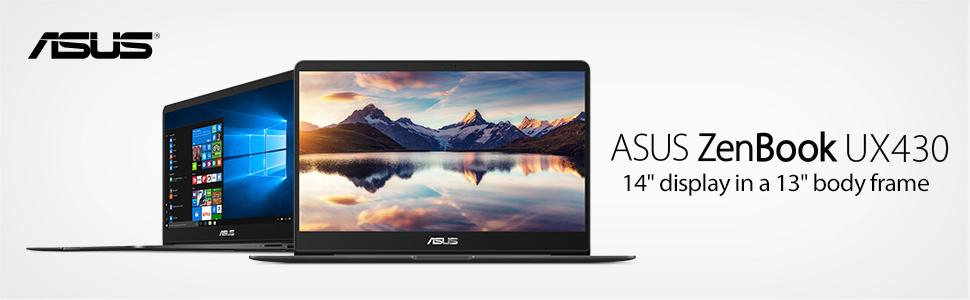 "ASUS ZenBook UX430UA-DH74 Ultra-Slim Laptop 14"" FHD wideview, Backlit keyboard, Quartz Grey, win 10"