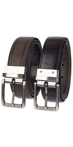 reversible dockers mens belt buckle comfort stretch