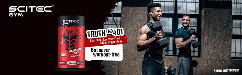 Scitec Gym WheyBro+ Zero Protein powder, chocolate - 500 g ...