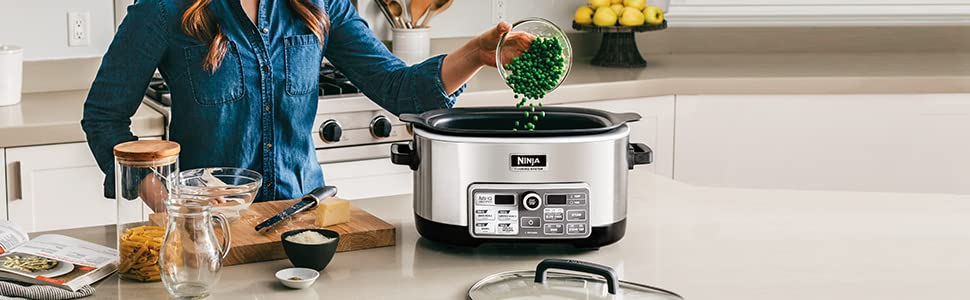 , Ninja Auto-iQ Multi/Slow Cooker with 80-Pre-Programmed Auto-iQ Recipes (CS960)