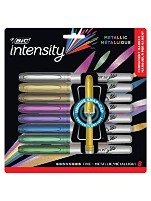 BIC Intensity Permanent Markers Fashion Colours Adult Colouring Flair Sharpier Artline Metallic
