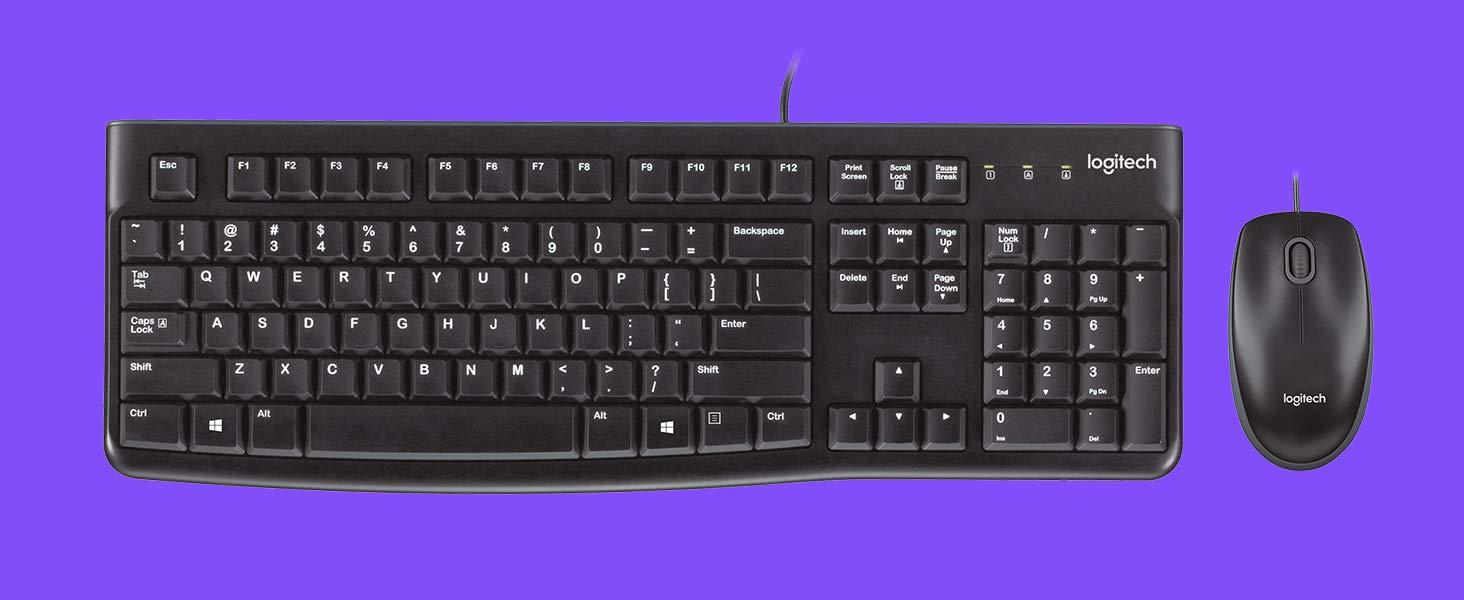 Logitech MK120 Combo Teclado y Ratón con Cable para Windows ...