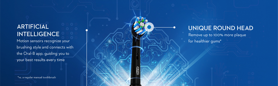 Oral-B Genius X-Limited with artificial intelligence and a unique round head