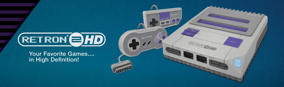 Hyperkin Retron2HD Retron Retro Video Gaming Console Game SNES NES Nintendo HD High Definition