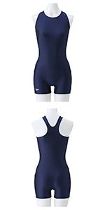 Speedo(スピード) スクール水着 女の子 ジュニア スパッツスーツ オールインワン フィットネス SD36N41