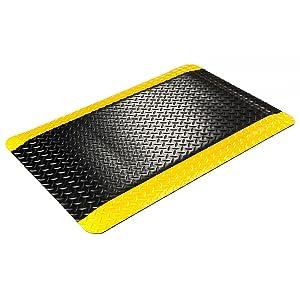 colore: nero//giallo Wearwell 415,916 x 2 x 3 byl SpongeCote Piatto Diamond-Tappeto Anti-fatica 61 cm x 91 cm resistente