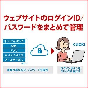 ウェブサイトのログインID/パスワードをまとめて管理