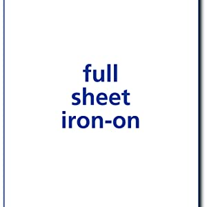 full sheet iron on,iron on transfer paper