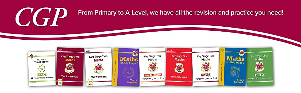 Browse CGP's Primary Yearly books covering KS1 and KS2. Including study, practice and more.