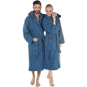Morgenstern Bademantel Herren Salamanca aus Frottee in Blau