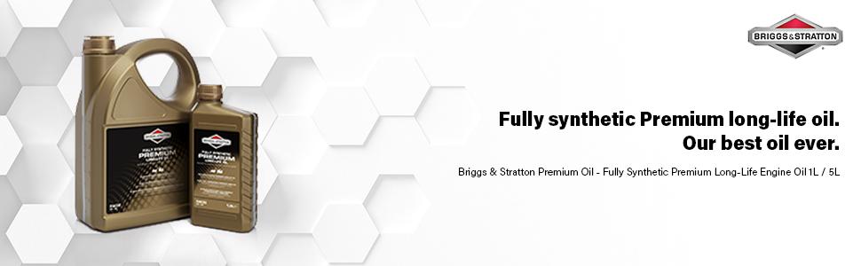 Briggs & Stratton volledig synthetische premium lange levensduur motorolie 1L 5L